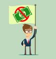 rejection money concept refuse cash vector image