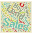 Sales Leads Maximize Your Sales From Longer Term vector image vector image