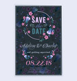 save date wedding invitation card design vector image vector image