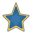 sea star symbol vector image vector image
