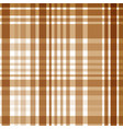 seamless brown checkered pattern vector image