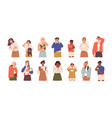 set of sad and upset people crying weeping vector image vector image