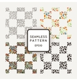 set of seamless geometric patterns of hand vector image vector image