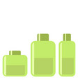 spa cosmetic gel green flat icon on white vector image vector image