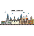 spain zaragoza city skyline architecture vector image vector image