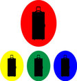 Suitcase on wheels icon set vector image vector image