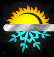 sun and snowflake heating and ventilation vector image vector image