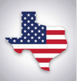 texas tx state america flag map flat vector image vector image