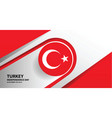 turkey independence day background vector image vector image