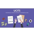 ucit undertakings for collective investment in vector image