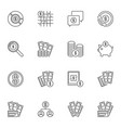 usd currency outline icons set - dollar vector image vector image