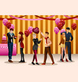 valentine day dance party vector image vector image