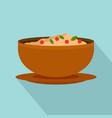 vietnam food icon flat style vector image