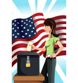 voting woman vector image
