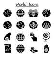 world earth icon set vector image vector image