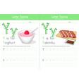 y for yoghurt and y for yakiniku vector image vector image