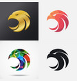 eagle head icons vector image