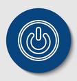 on off switch sign white contour icon in vector image