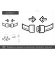 seat belt line icon vector image