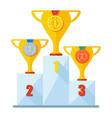 winner podium gold silver bronze vector image