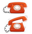 old-fashion phone vector image
