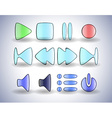Glass interface buttons vector image