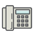 home phone colorful line icon household appliance vector image