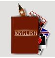 Red english dictionary vector image