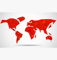 abstract world map background in polygonal style vector image
