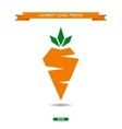Carrots polygons trend logo icon style sign vector image