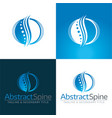 abstract spine icon and logo vector image vector image