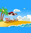 beach chairs vector image vector image