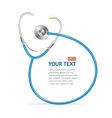 blue Stethoscope with place for text vector image