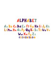 bubble font colorful alphabet with balloon or vector image