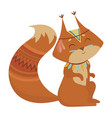 cartoon squirrel indian a vector image vector image