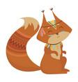 cartoon squirrel indian vector image