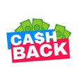 cash back modern flat style vector image