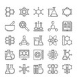 chemistry and science icons in thin line vector image vector image