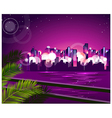 City skyline night vector image