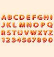 comics orange font on white background vector image