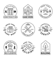 Construction Emblem Set vector image vector image