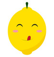 cute lemon on white background vector image