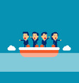 cute people pointing in different direction vector image vector image