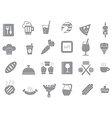Diner gray icons set vector image vector image