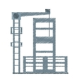 drawing building construction structure steel vector image vector image