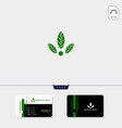 eco leaf creative logo template get free vector image vector image