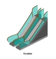 Escalator for lowering and lifting the airport vector image vector image