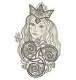 fabulous viking fairy abstract portrait vector image