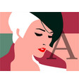 female face close-up fashion vector image vector image