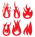Fire icons1 vector image vector image